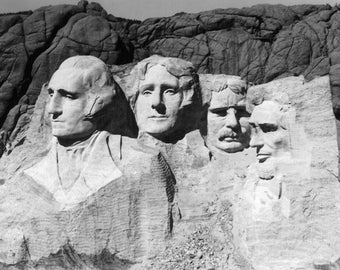 Mount Rushmore National Park, South Dakota - View of the Monument - Vintage Photograph (Art Print - Multiple Sizes Available)