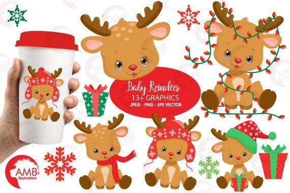 Christmas Clipart Reindeer Baby Santas