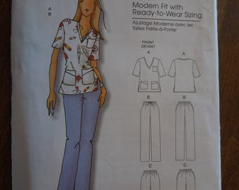 Butterick B5301, sizes XXL to 6X  or 18W to 44W, womnens top, pants, UNCUT sewing pattern, craft supplies