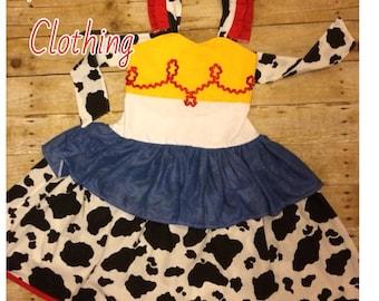 Toy Story Jessie Disney Inspired Peekaboo Dress or short set