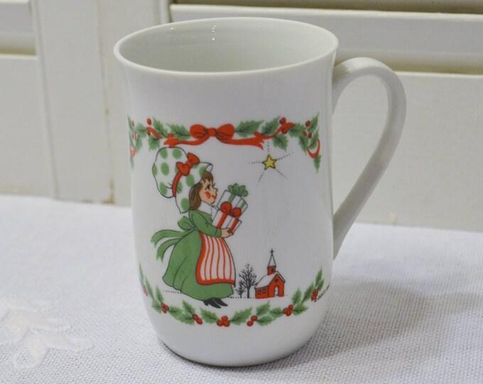 Vintage Cup Little Miss Sugarplum Christmas 1981 Commemorative Edition Mug PanchosPorch