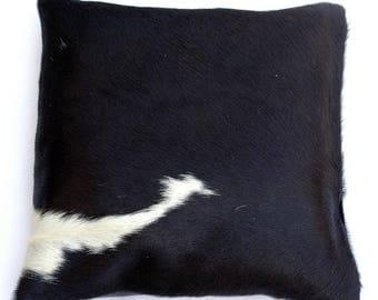 Natural Cowhide Luxurious Hair On Cushion/ Pillow Cover (15''x 15'') A13