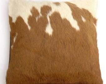 Natural Cowhide Luxurious Hair On Cushion/ Pillow Cover (15''x 15'') A114