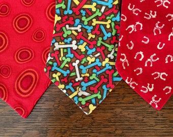 DOG NECKTIE, western necktie, dog fashion, gift for dog lover, gift for him, working dog, dog christmas, pet tie, dog accessory, dog wedding