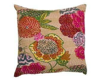 Cushion Cover - TROPICAL FLOWER BEIGE