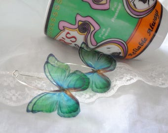 "collection 2017 earrings hoop earrings ""butterflies"""