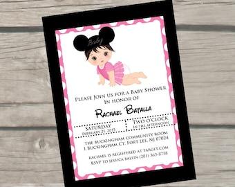 Disney Baby Shower Invitations