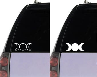 Triple Goddess Moon Vinyl Car Decal