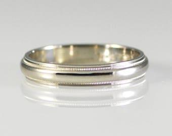 Platinum Milgrain Band Size 11 Novell Design Studio