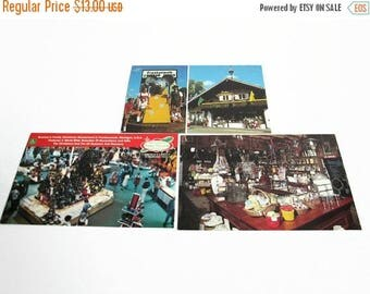 Christmas in July Sale Vintage Postcard Lot, Cheese Haus Frankenmuth Michigan, Bronner's Christmas, Rau's Country Store, Michigan Souvenir,