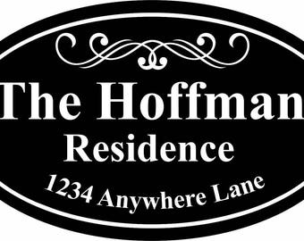 Personalized Aluminum Engraved House/Garage Sign 7 x 12