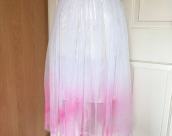 Pink and white ombre tulle skirt size small