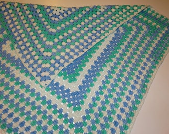 Granny Square Baby Blanket Afghan – Spearmint