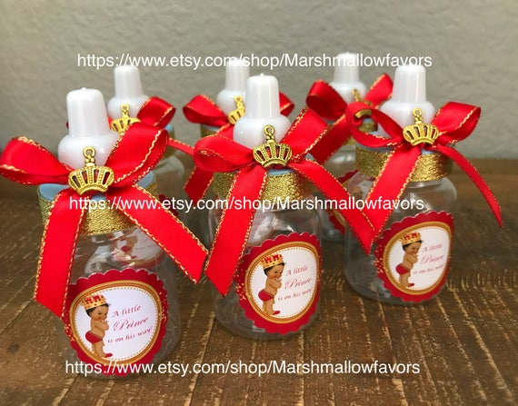 12 Little Prince Baby Shower Favors  Royal Prince Baby Shower Red And Gold  Baby Shower  Royal Prince Red Baby Shower  Red And Gold Favor