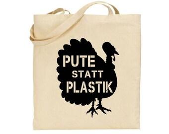 """Tote bag """"Pute statt Plastik"""""""