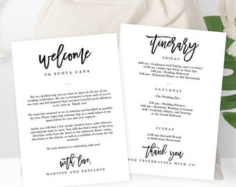 Wedding itinerary etsy junglespirit Images