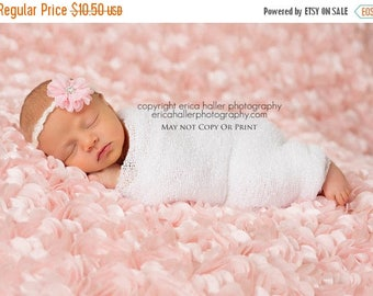 SALE Petite Elegance Collection Mackenzie in Pink Headband or clip in MANY colors Beautiful Newborn Photo Prop Baby Headband