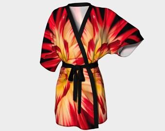 Kimono Robe - Flower of Fire