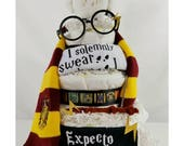 Wizard Diaper Cake| Harry Potter inspired Diaper Cake| Baby Gift| Diaper Cake| Baby Shower Centerpiece| Baby Shower Gift| Centerpiece| Gifts