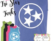 Tri Star Tennessee Tank ~ Comfort Color Tank ~ Stars