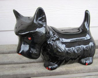 Vintage California Pottery Scottie Dog Cookie Jar