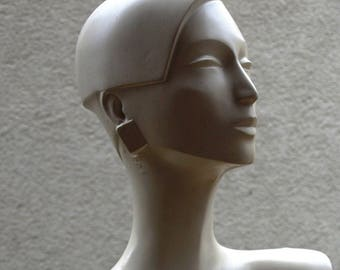MANNEQUIN, antique, plaster bust, torso, female, art deco