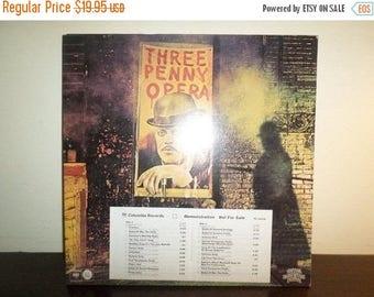Save 30% Today Vintage 1976 Vinyl LP Record Three Penny Opera Soundtrack Rare Promo Copy Near Mint Condition 8119