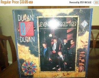 Save 30% Today 1983 Vintage Duran Duran LP Record Seven and the Ragged Tiger Excellent Condition 6327