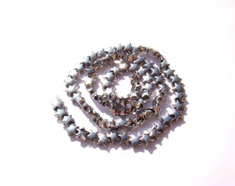 Silver Hematite: 5 beads approximately 6 mm star shape