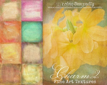 50% OFF! Charm 2 {Fine Art Textures} Texture Overlays and Backgrounds