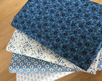 Blue Sky Quilting Fat Quarter Bundle A by Makower Floral Fabrics