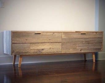aged oak barnwood credenza a modern rustic sideboard cabinet custom made by hand