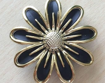 large sewing flower brooch