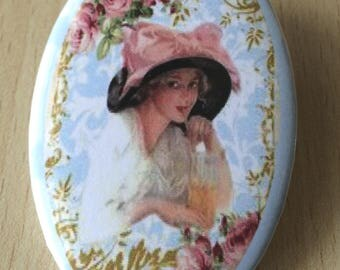 badge / brooch vintage romantic summer