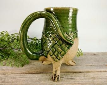 Dragon Creature Cup - 20 oz - Office Mug - Bookish - Book Lover Gift - Large Mug For Tea - Enchanted Forest -  Mesiree Ceramics