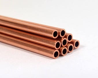10% Off 24ga Copper Tubing - 12 Inch Lengths - Choose Your Quantity