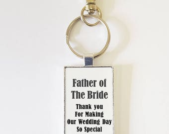 Father of the Bride * Father of the Groom Personalised Keyring
