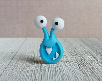 Blue Monster - Halloween - Monster - Silly Monster - Monster Eyes - Lapel Pin