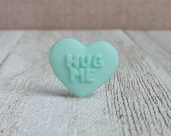 Heart - Heart Candy - HUG ME - Valentine Candy - Friendship - Love - Wedding - Lapel Pin