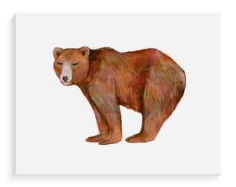 Bear Illustration Fine Art Giclee Print