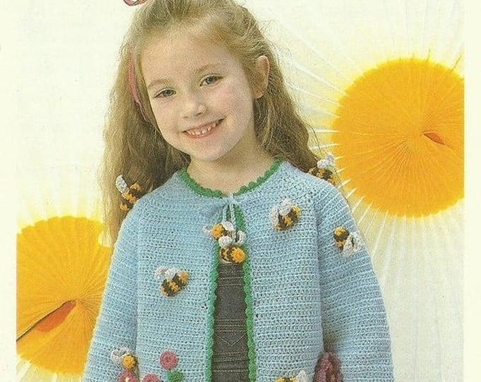 Retrocon Sale - Child's Jacket Crochet Pattern - lovely vintage children's pattern