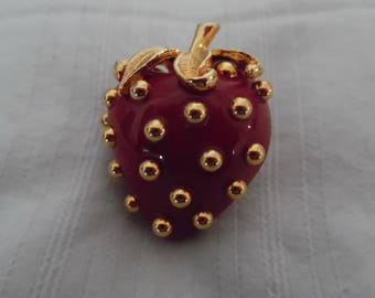 Kenneth Jay Lane Strawberry Pin