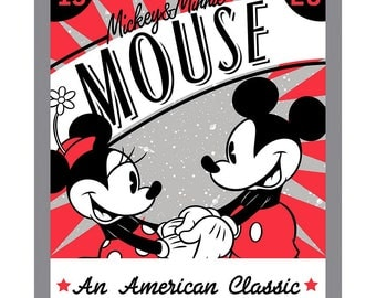 Disney Fabric Panel Mickey Fabric An American Classic From Springs Creative 100% Cotton