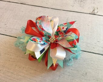 Modern floral bow