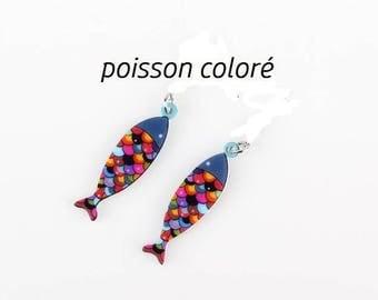 X 1 acrylic colorful fish