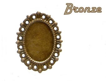 Support oval 1 X bronze pr creation 40mm