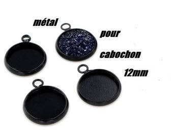 X 1 holder black metal ring 12mm round