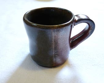 Small Green-Grey and Copper Mug