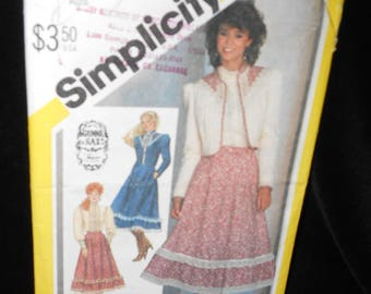 Misses Skirt Top Jacket Simplicity 5491 Womens 12 Gunne Sax Skirt Blouse Jacket