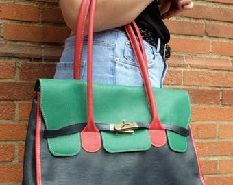 Orange Handbag, Hermes style, french bag